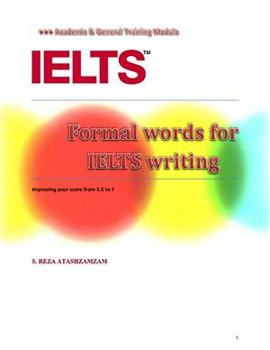 Formal Words for IELTS Writing- Cover