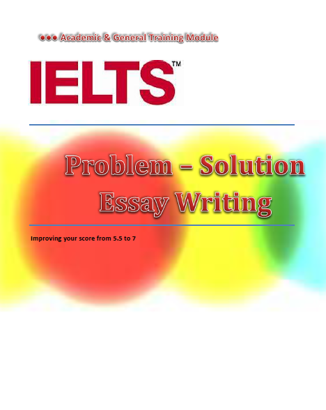 IELTS Problem-Solution Essay Writing - Cover